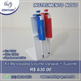 Kit Micropipeta Volume Variável + Suporte